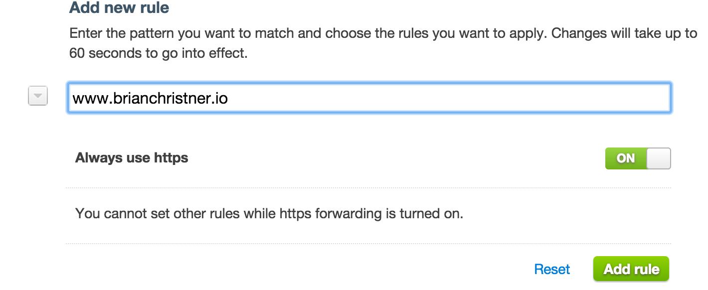 Add HTTPS Rule