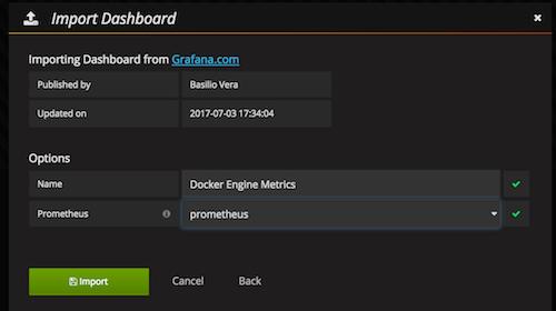 Import Grafana Dashboard